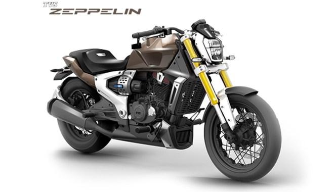 Zeppelin, la moto ibrida di TVS