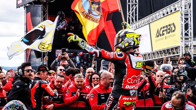 Superbike Aragon 2019, Gara-2: Bautista lepre. Rea e Davies a podio