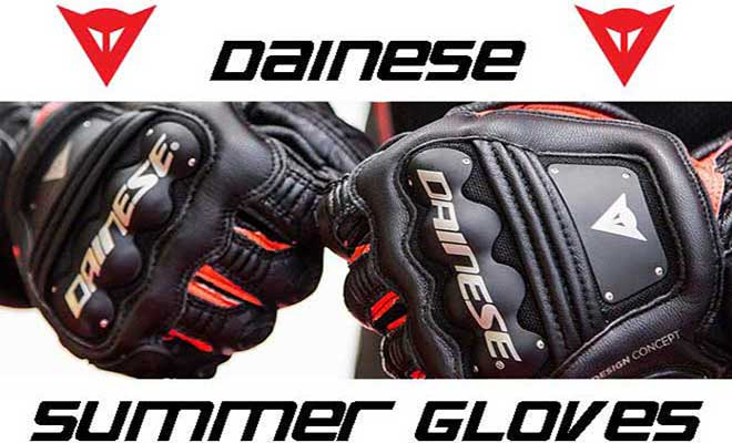 Dainese: Con i Summer Gloves guidi Fresco e Sicuro
