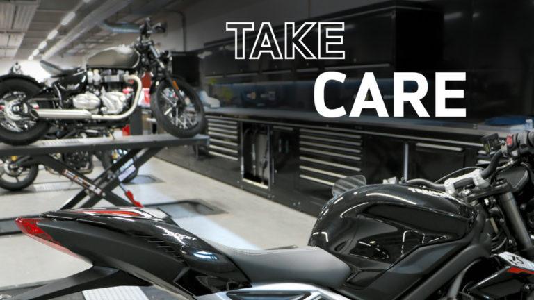 Take Care, tre pacchetti di manutenzione Triumph