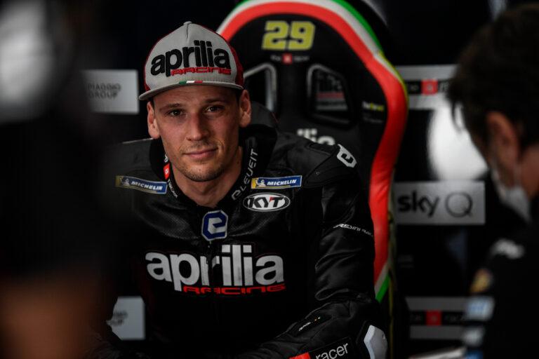 Lorenzo Savadori in MotoGP sulla Aprilia
