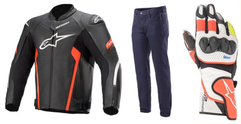 Alpinestars pantaloni Copper V2, giacca Faster v2 e guanti SP-2 v3